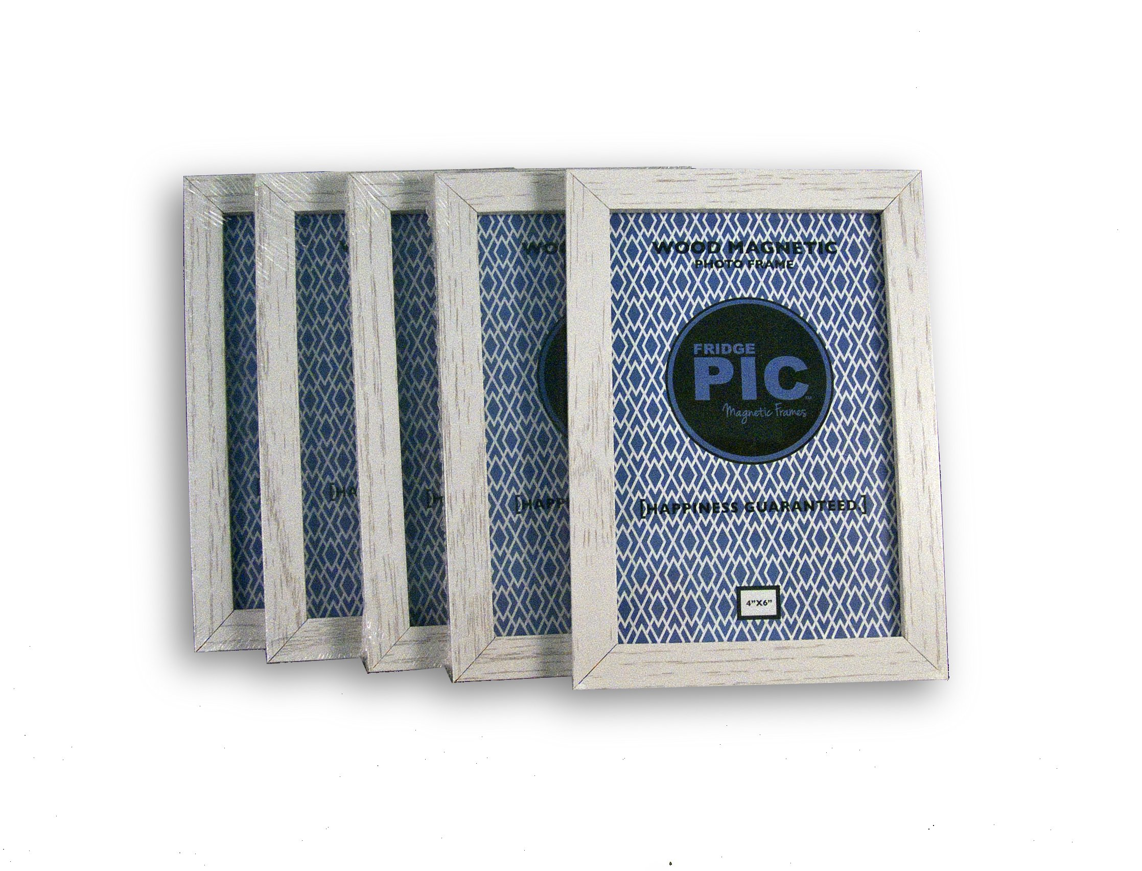 Fridgepic Wood Magnetic Photo Picture Frames, Black - Set of 5 (4x6) by FridgePIC Magnetic Frames (Image #7)
