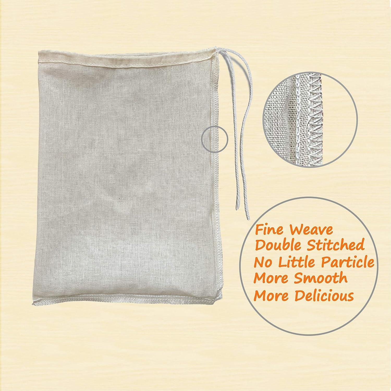 Amazon.com: Paquete de 2 bolsas de algodón orgánico premium ...