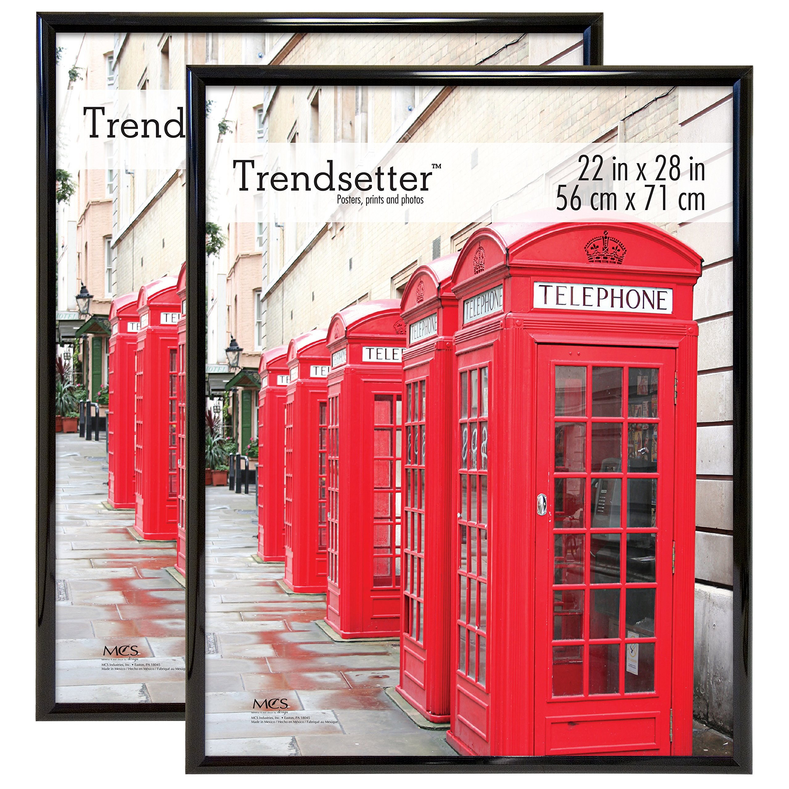 MCS Trendsetter Poster Frame, 22 by 28-Inch, Black (2-Pack) by MCS (Image #1)