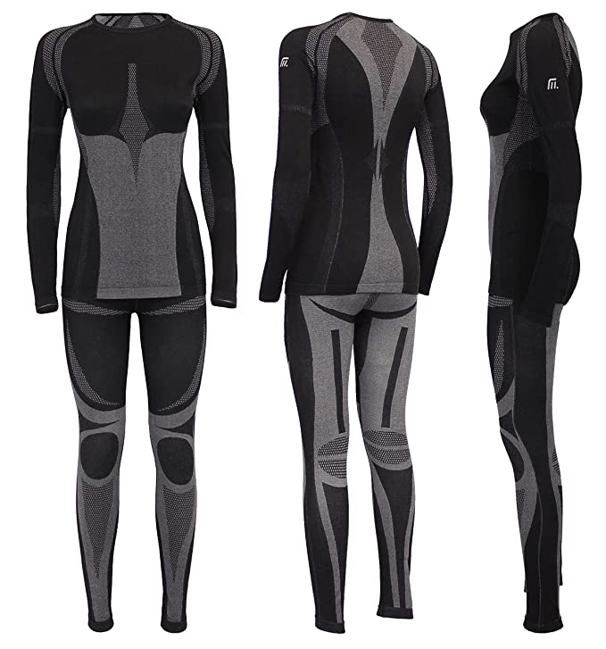 Medico seamless-Set para mujeres, de alta calidad sin costuras interferentes Profi-ropa interior funcional, de esquí, térmica para Moto, ropa interior ...