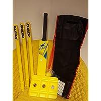 Cricket loco juego de Cricket Set Tamaño 5–amarillo