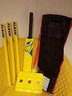 Cricket Crazy Cricket Set Starter Set Size 6 - Yellow (BatsStumpsBall & Safari Plastic Table Tennis Bat (Yellow): Amazon.co.uk: Sports ...