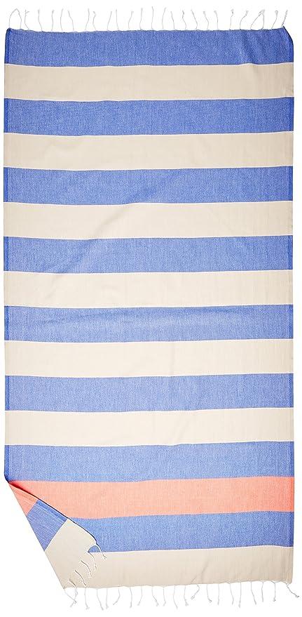 Cacala Toalla de baño turco, modelo Paradise, algodón, Blue Beige, 95 x