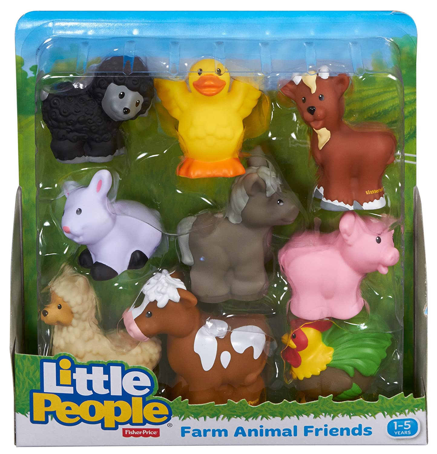 Amazon Fisher Price Little People Farm Animal Friends Toys