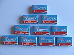 100 Crown Super Stainless Double Edge Safety Razor Blades