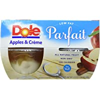 DOLE FRUIT BOWLS Low Fat Apples and Crème Parfait, 4 Cups (6 Pack)
