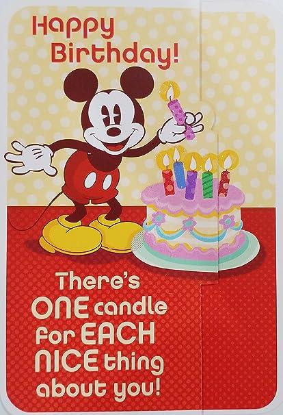 Mickey Mouse - Tarjeta de felicitación para cumpleaños ...