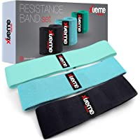 Resistance Bands | Premium Set of 3 Hip Bands for Exercise, Fitness & Workout. | Non Slip, Anti Roll & Anti Snap Design.