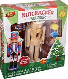Amazon paint your own nutcracker drummer by masterpieces toys masterpieces works of ahhh nutcracker soldier paint kit solutioingenieria Image collections