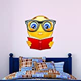 Bookworm Emoji Wall Decal - Kids Wall Sticker Emoticon