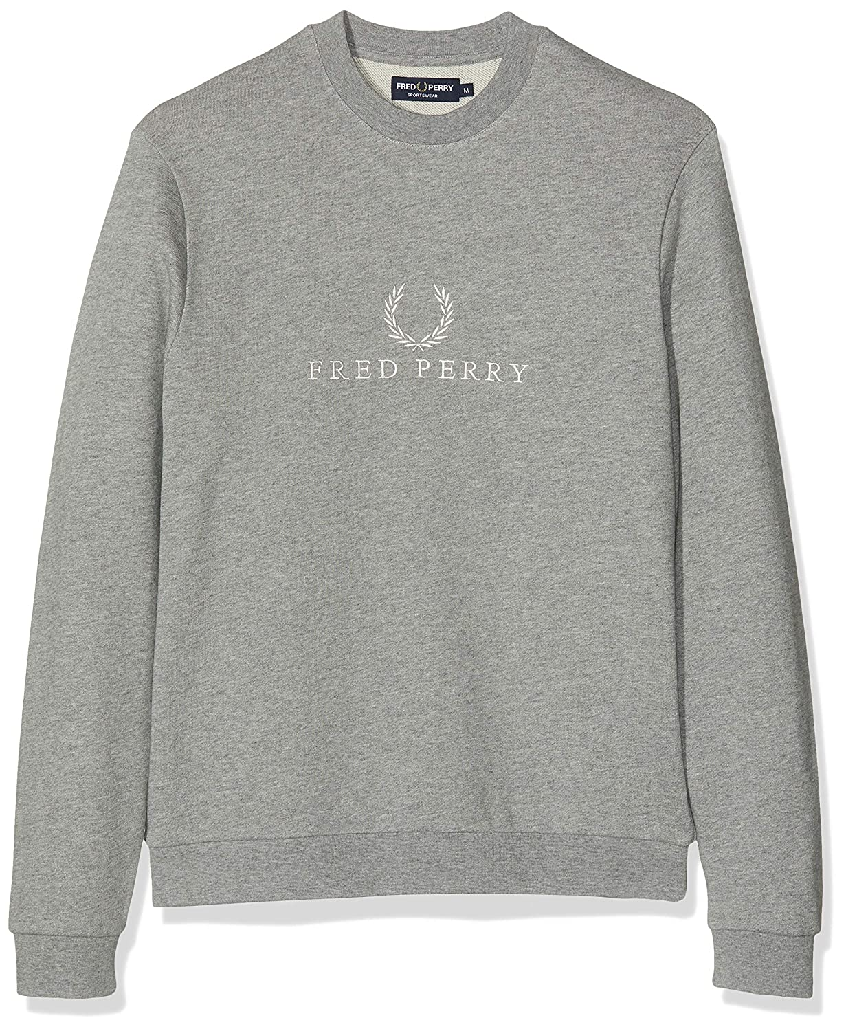 Fred Perry Embroidered Steel Marl Felpa con cappuccio