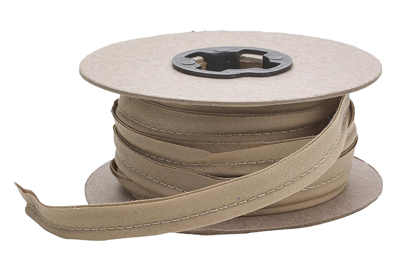 Khaki 15 yd Pearl 1//2 Wide Broadcloth Cord Piping