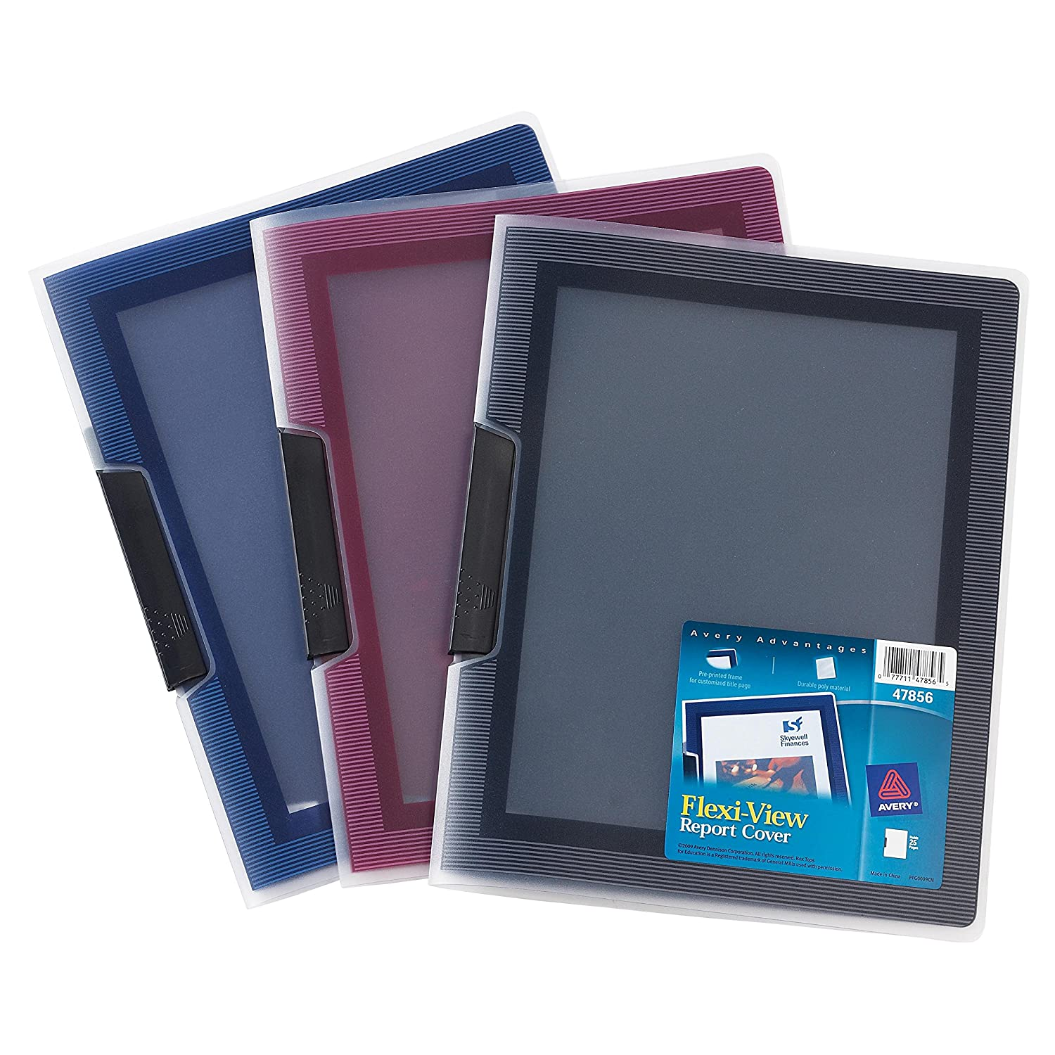 Avery Flexi-View Report Cover 47856 Color May Vary Assorted Colors 1 Cover