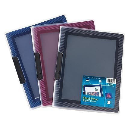 amazon com avery flexi view report cover assorted colors color