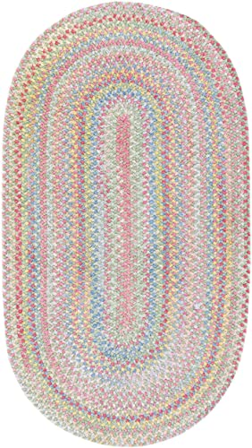 Capel Rugs Baby s Breath 2 x 4 Oval Braided Area Rug Light Green