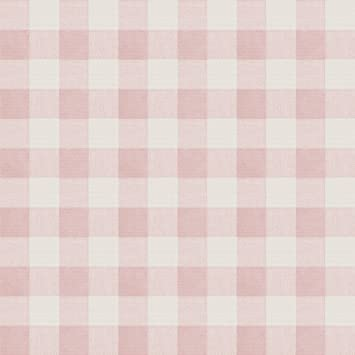 Chesapeake 3112 002725 Claire Pink Gingham Wallpaper