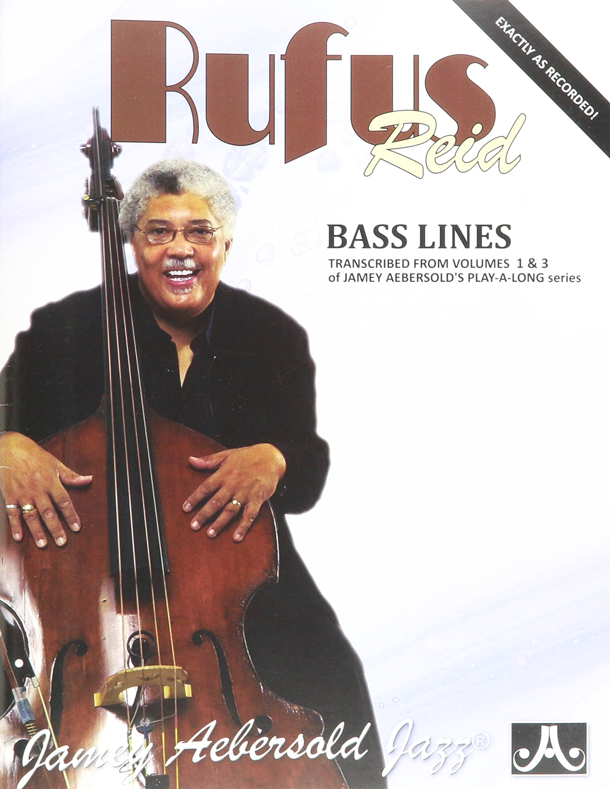 Jamey Aebersold RUFUS REID BASS LINES FROM VOLUME 1 AND 3 PLAY-A
