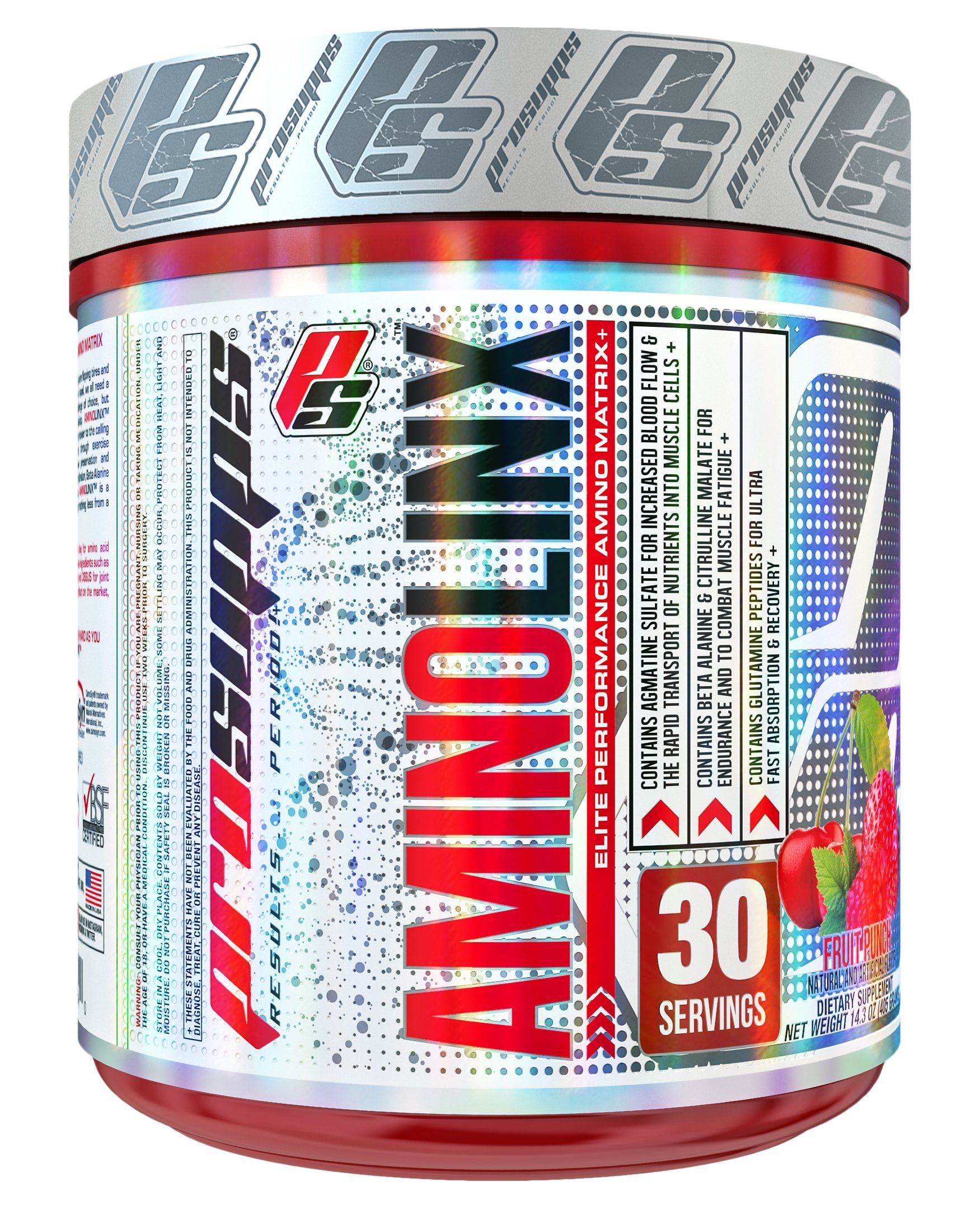 Pro Supps Aminolinx Elite Performance Amino Matrix, Fruit Punch, 30 Servings, BCAA and EAA Matrix