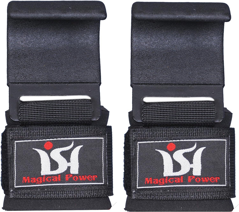 Zer one Nylon Gym Hook Handgelenkst/ütze Gewichtheben Training Gym Straps Hook Bar Handschlaufe mit Anti Rutsch Griff