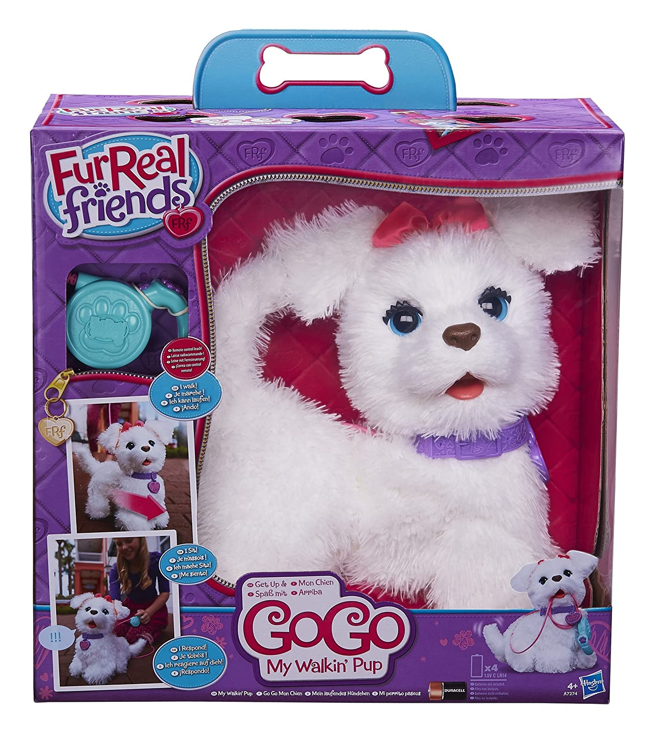 Amazon.es: FurReal friends - Peluche Gogo, Mi Perrito Paseos ...