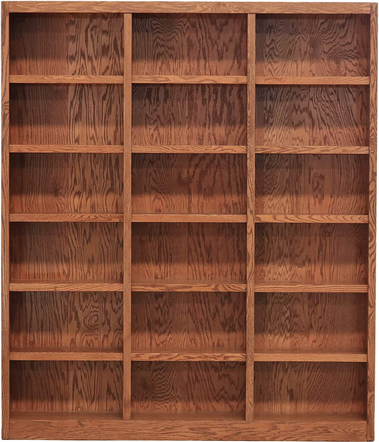 Amazon Com Concepts In Wood 18 Shelf Triple Wide Wood Bookcase