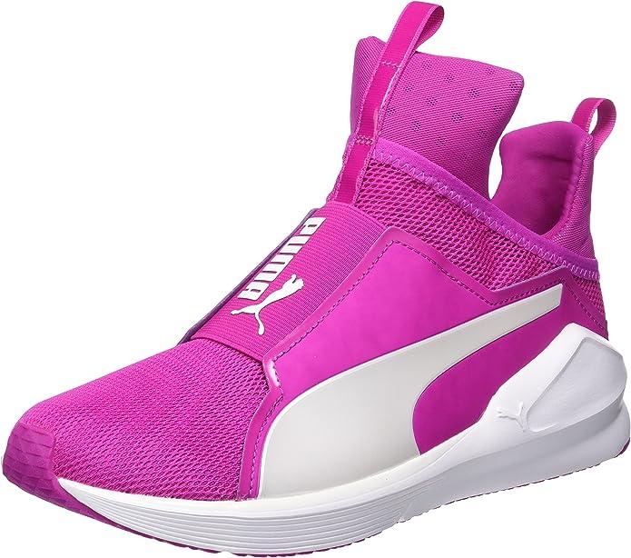 Puma Fierce Core Sneakers Trainingsschuhe Damen Rosa mit weißen Streifen