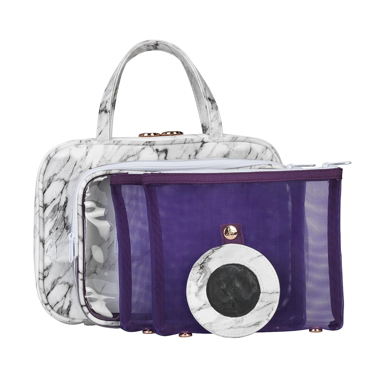 Stephanie Johnson Womens Carrara Ml Traveler Purse Grey One Size The Regatta Group DBA Beauty Depot CAR-GRY-MLT