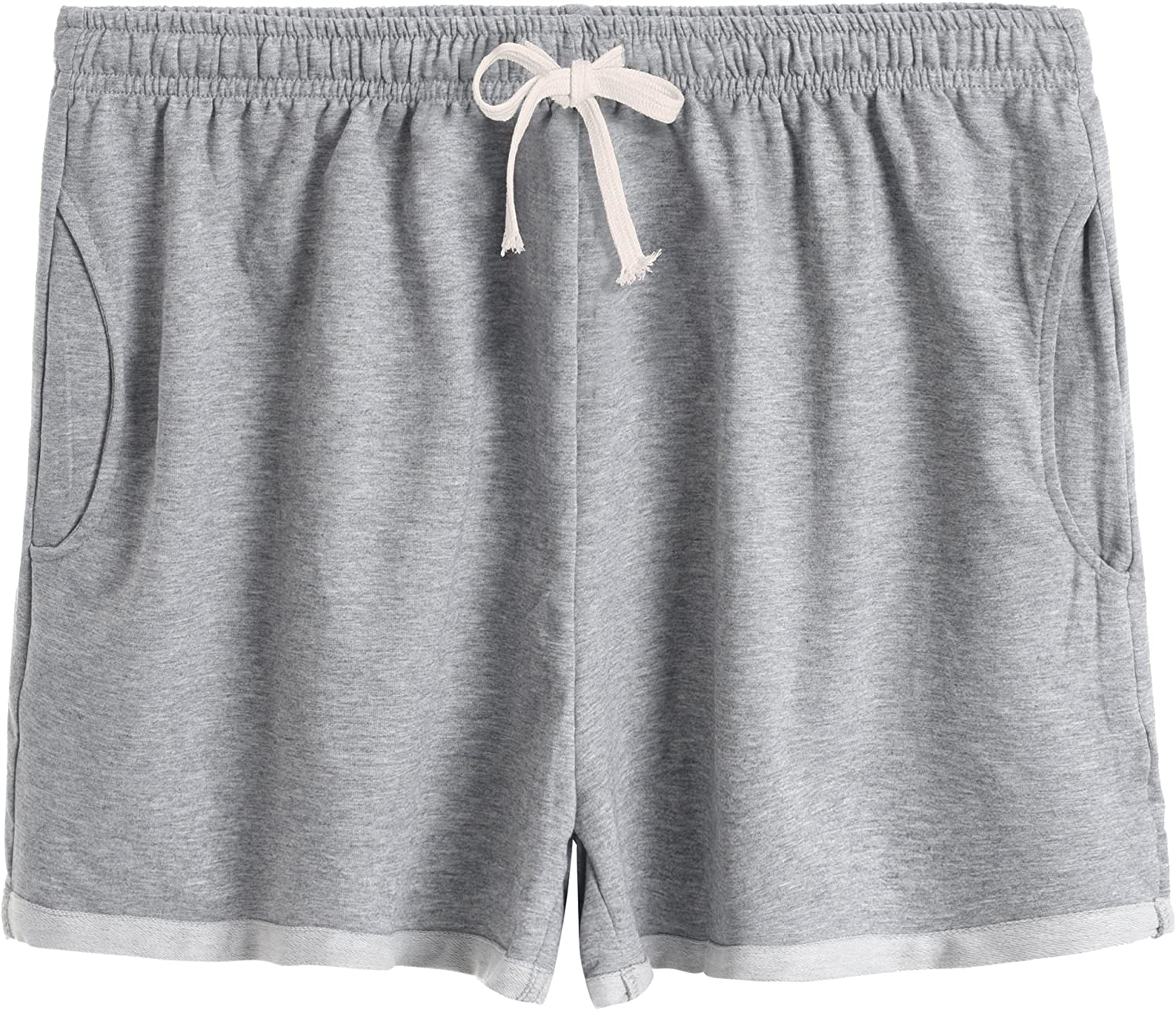 Latuza Womens Cotton Stretchy Lounge Sweat Shorts