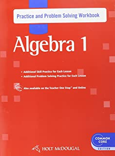 Holt mcdougal larson pre algebra student edition 2012 holt holt mcdougal algebra 1 practice and problem solving workbook fandeluxe Image collections