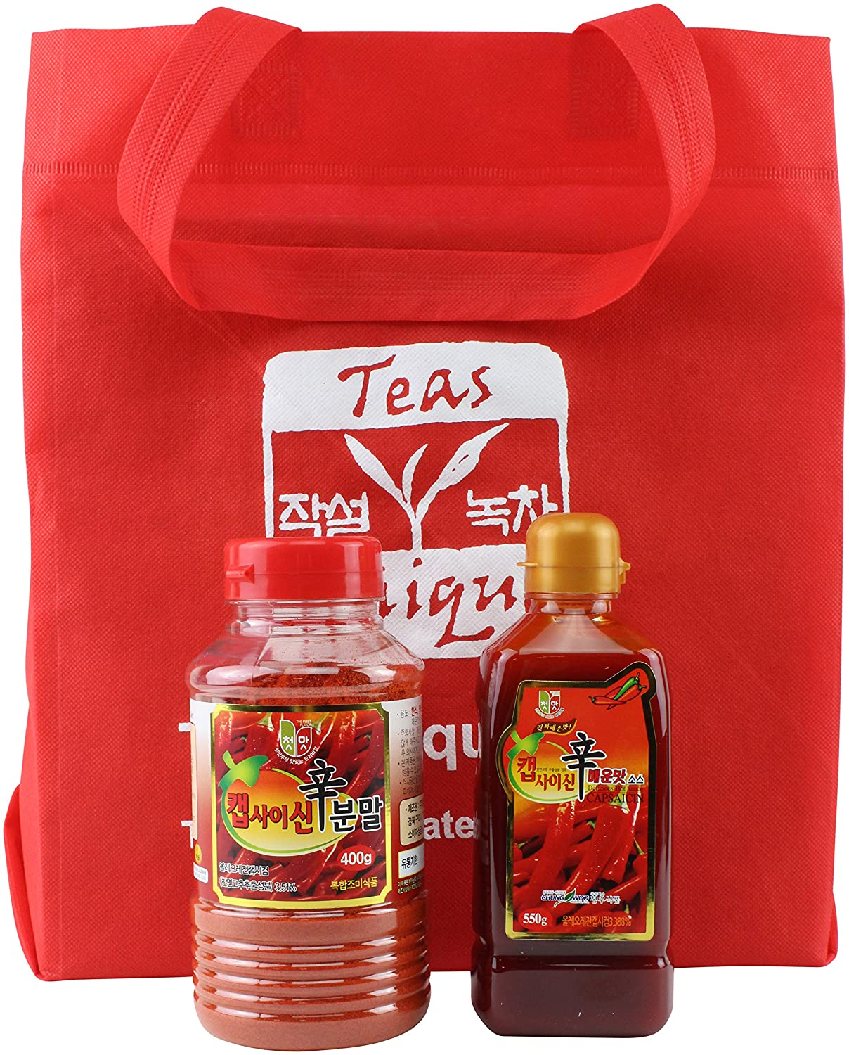 Amazon.com : Korean Capsaicin Extremely Spicy Essence of Hot Chili Pepper Sauce and Powder Set (950g) : Grocery & Gourmet Food
