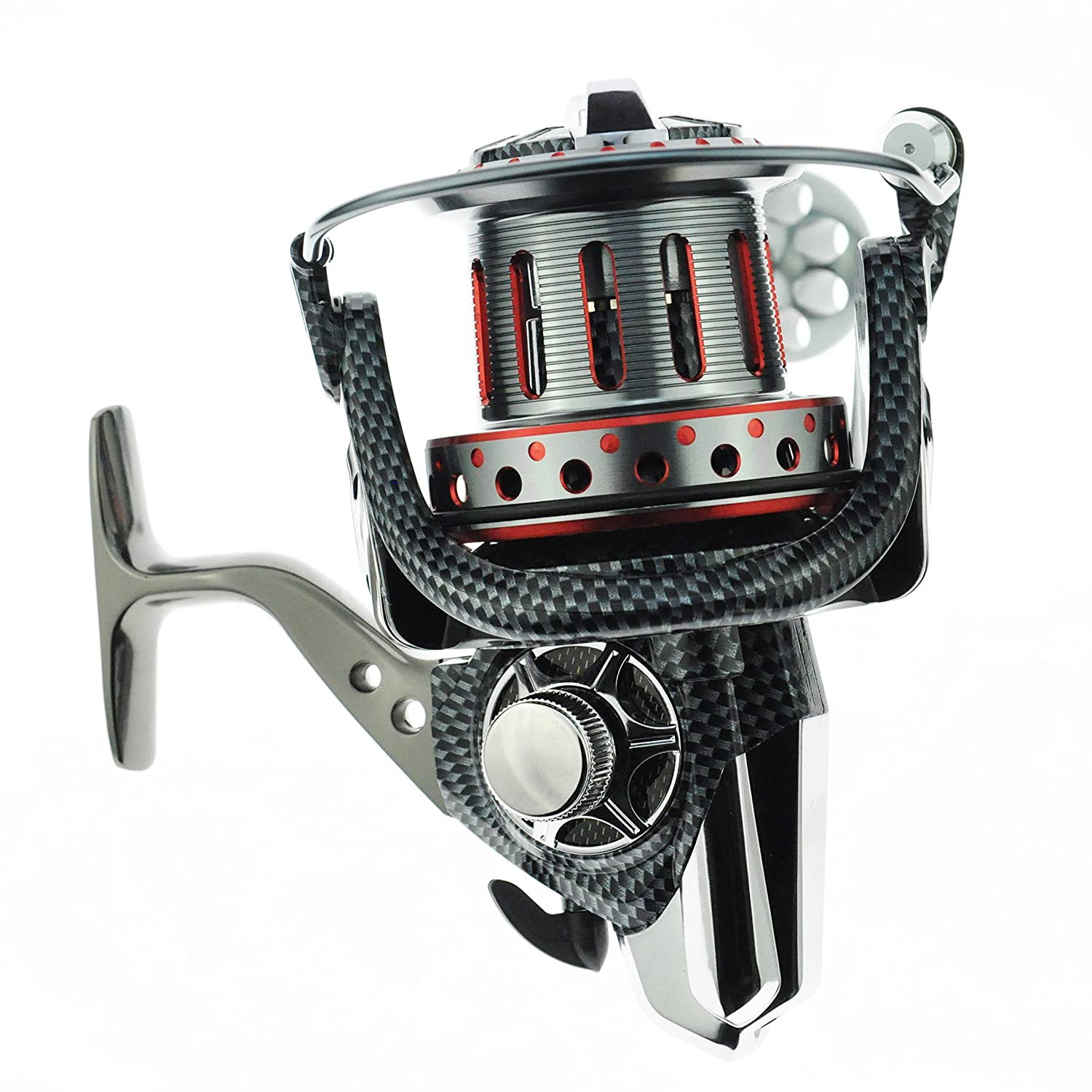 JEKOSEN Metal Spool Casting Spinning Fishing Reels Saltwater Boat Rock Fishing Reel 10000 12000 10BB 1RB Bearing 4.7 1 Gear Ratio