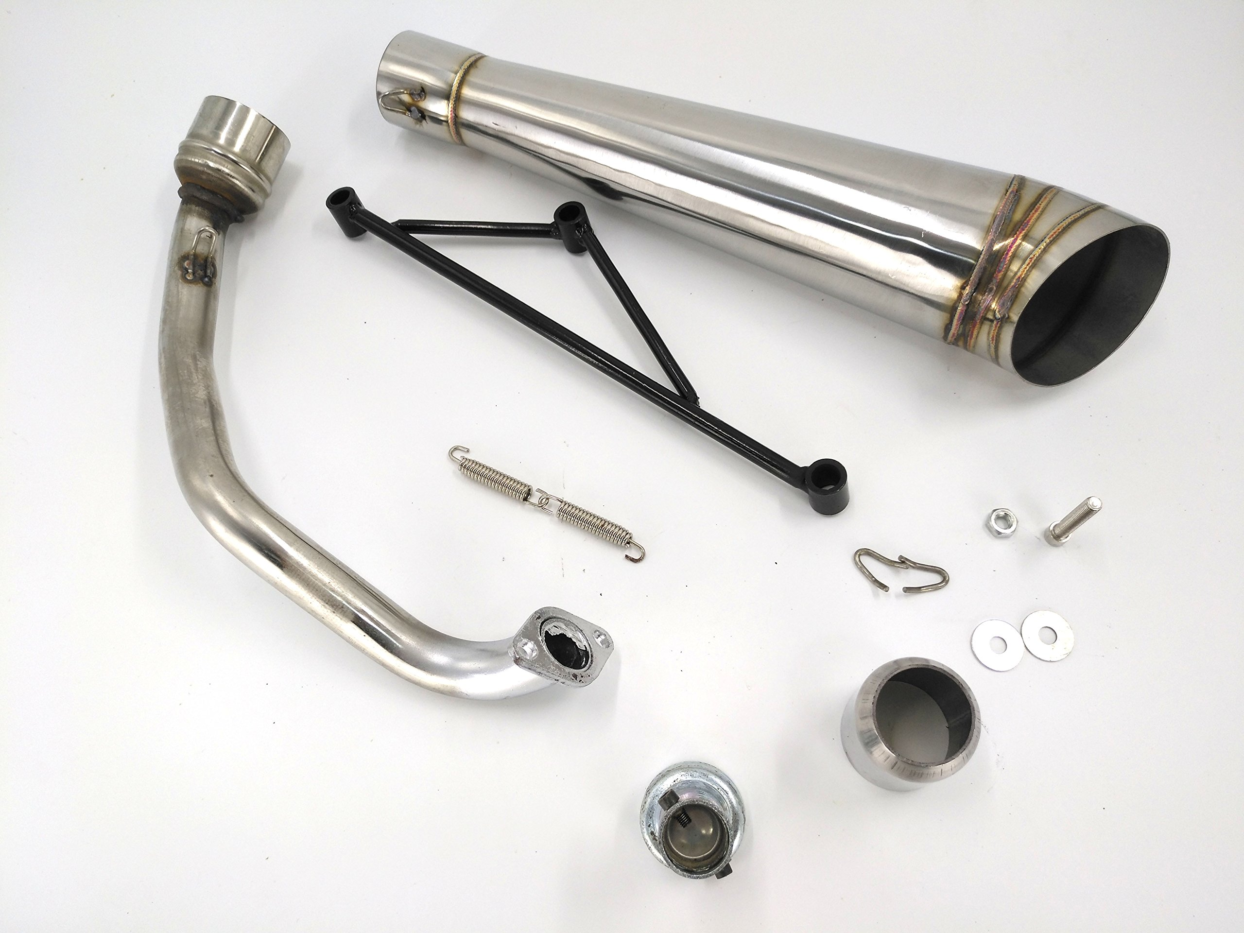 Chinese 125 Engine Parts Honda Ruckus Diagram Annpee Stainless Steel Exhaust Muffler System For Gy6 125cc 150cc Most Scootershonda