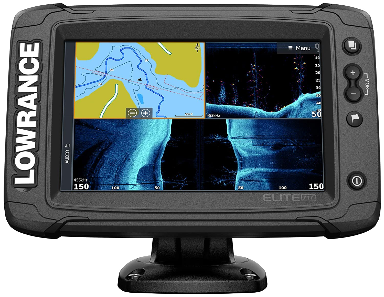 Elite-7 Ti2-7-inch Fish Finder Active Imaging 3-in-1Transducer, Wireless  Networking, Real-Time Map Creation Preloaded C-MAP US Inland Mapping …