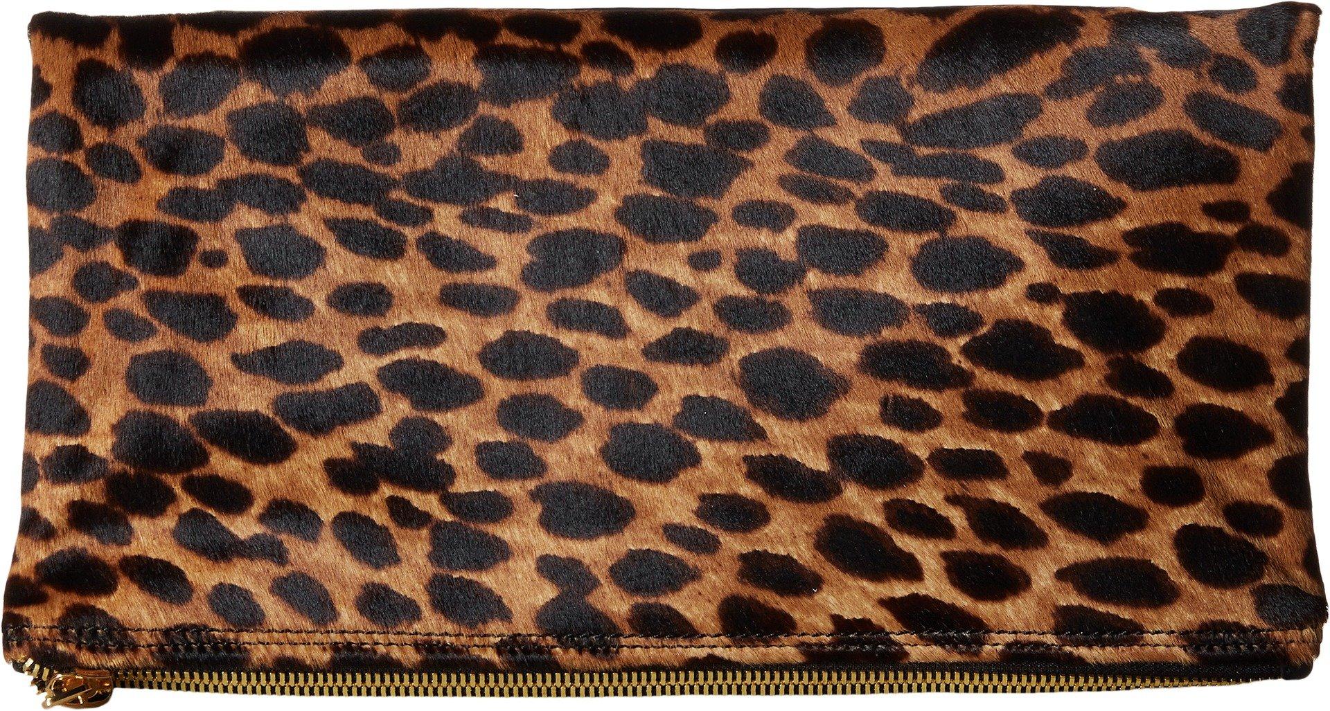 McQ Women's 352424R1B98 9032 Fold Clutch White Leopard Pixel Leopard One Size by McQ