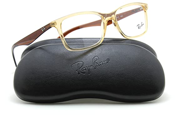 0c6dafbc14e Image Unavailable. Image not available for. Color  Ray-Ban RX7047 Rectangle  Unisex Prescription Eyeglasses ...