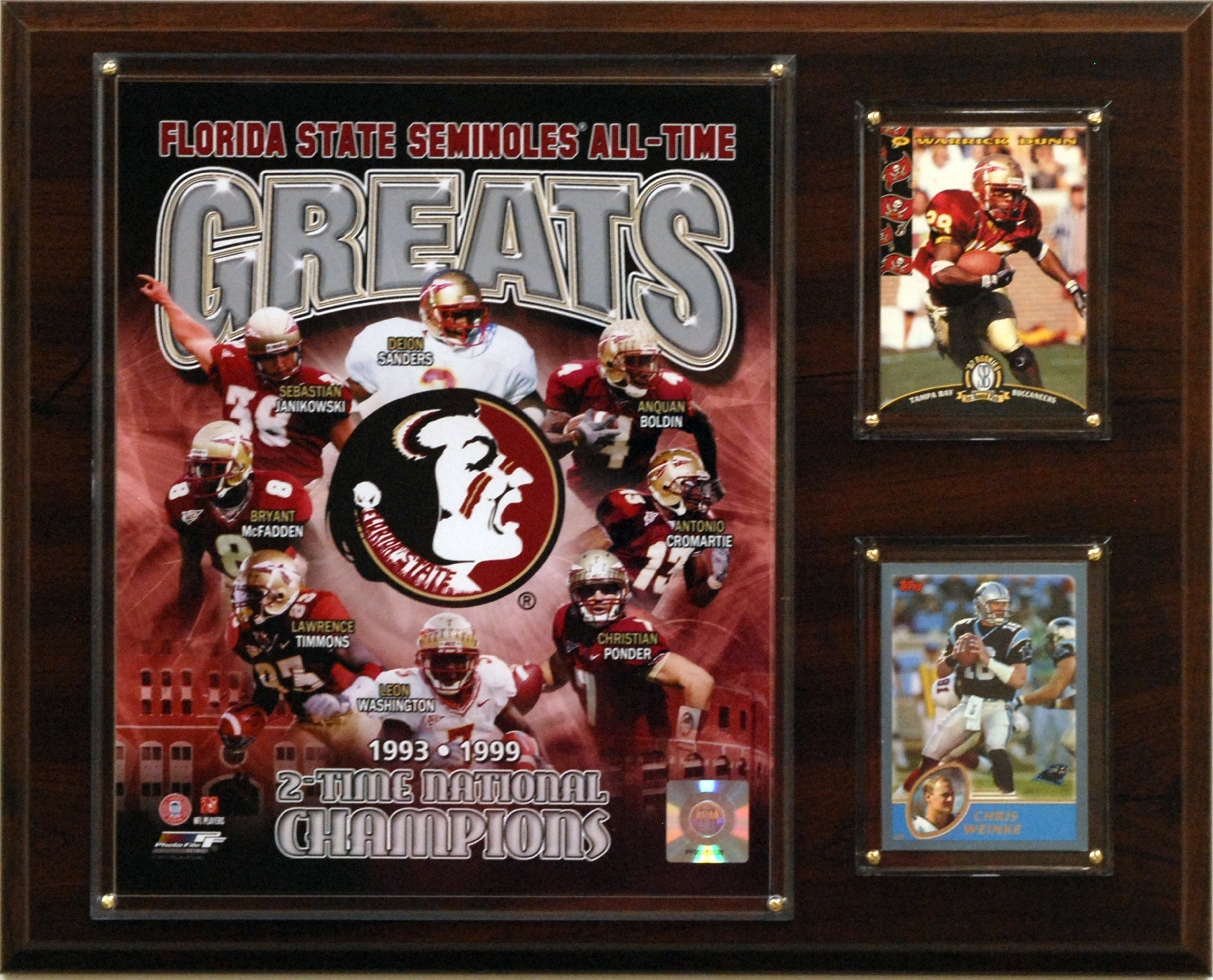 NCAA Football Florida State Seminoles All-Time Greats Photo Plaque