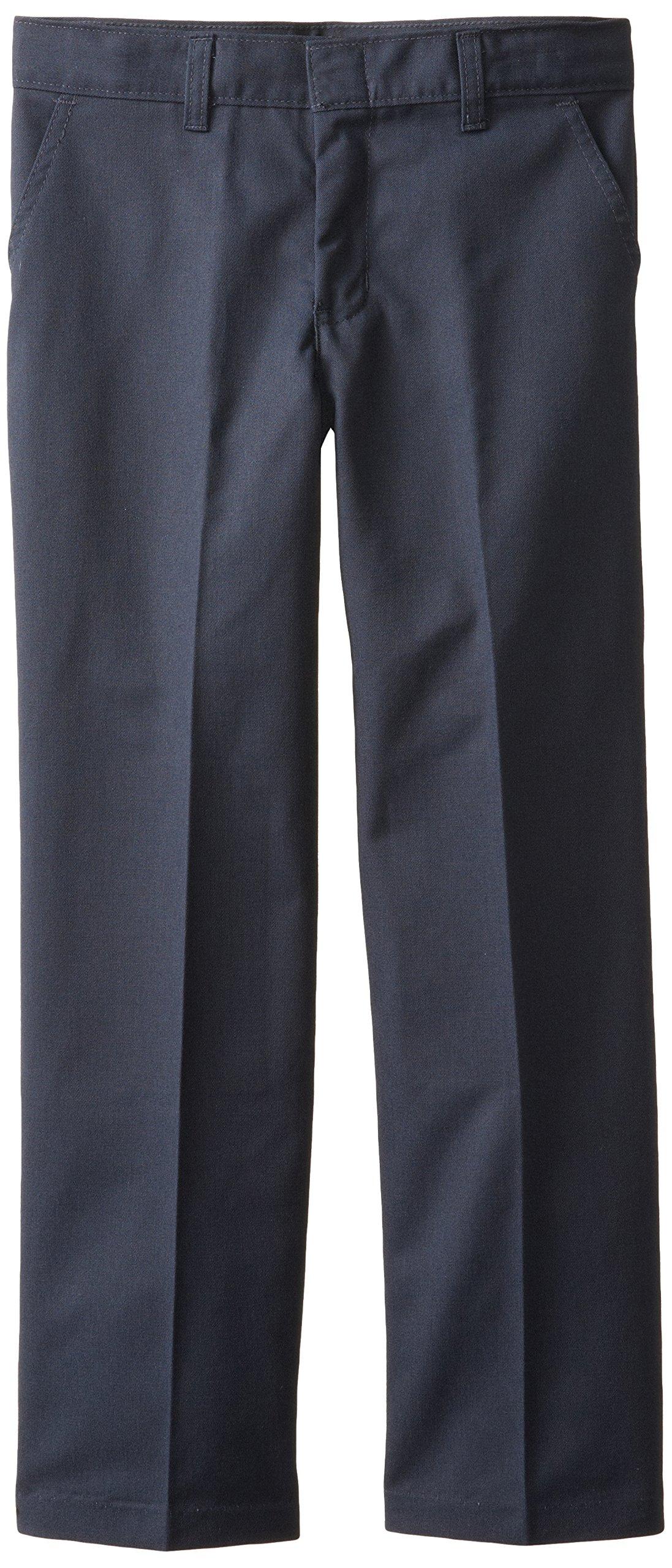 Dickies Big Boys' Flex Waist Flat Front Pant, Dark Navy, 14 Husky