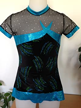 CREATJUSTO Justaucorps GR modele Cleo Velours Turquoise  Amazon.fr ... 919bd8324f1