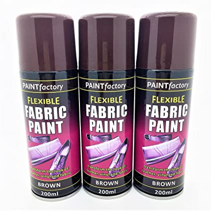 Pack Of 3 Flexible Fabric Spray Paint Brown Transforms The Look Of Leather Vinyl And Fabric Swan Household