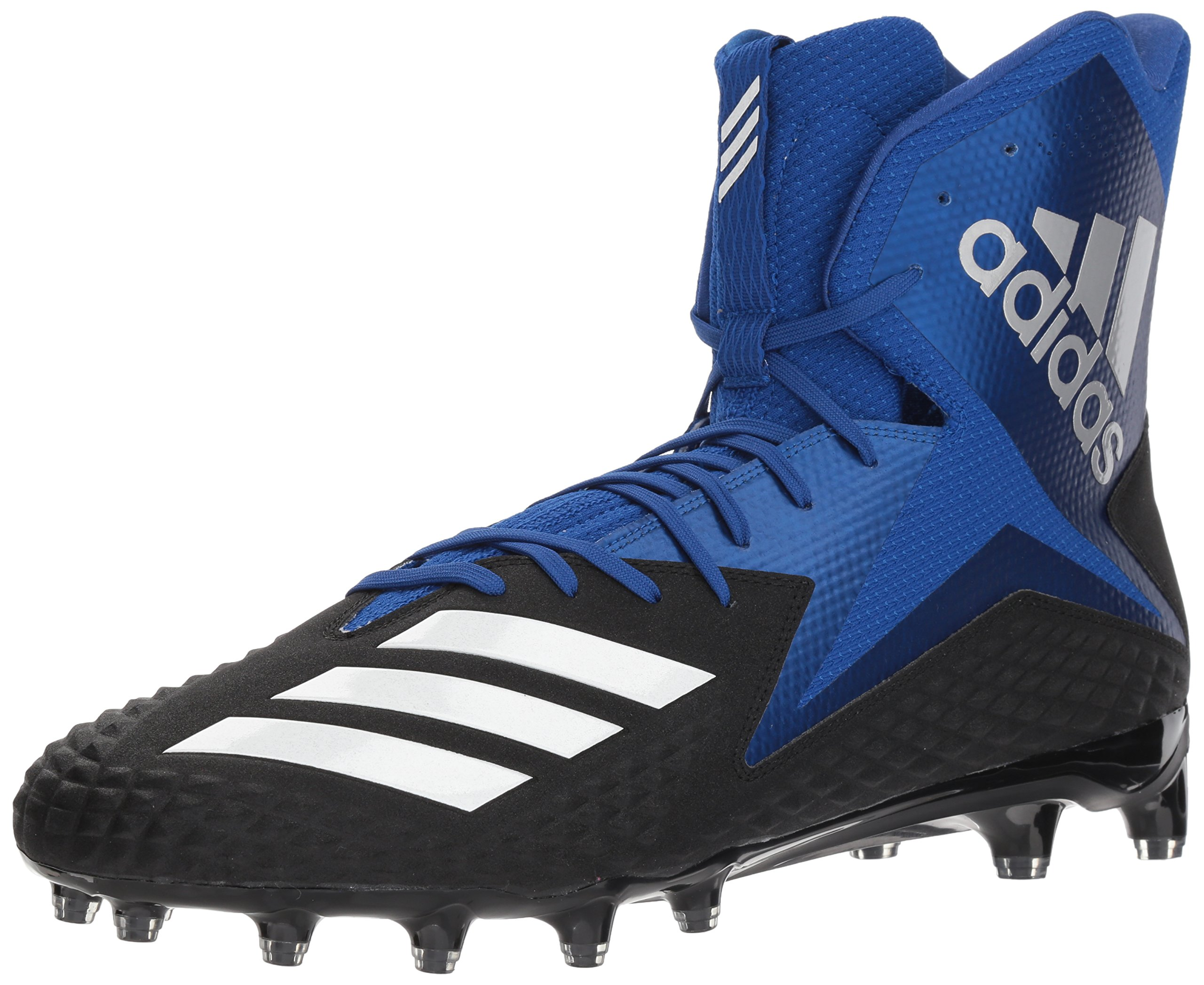 adidas Men's Freak X Carbon Mid Football Shoe, Core Black/White/Collegiate Royal, 13 M US by adidas