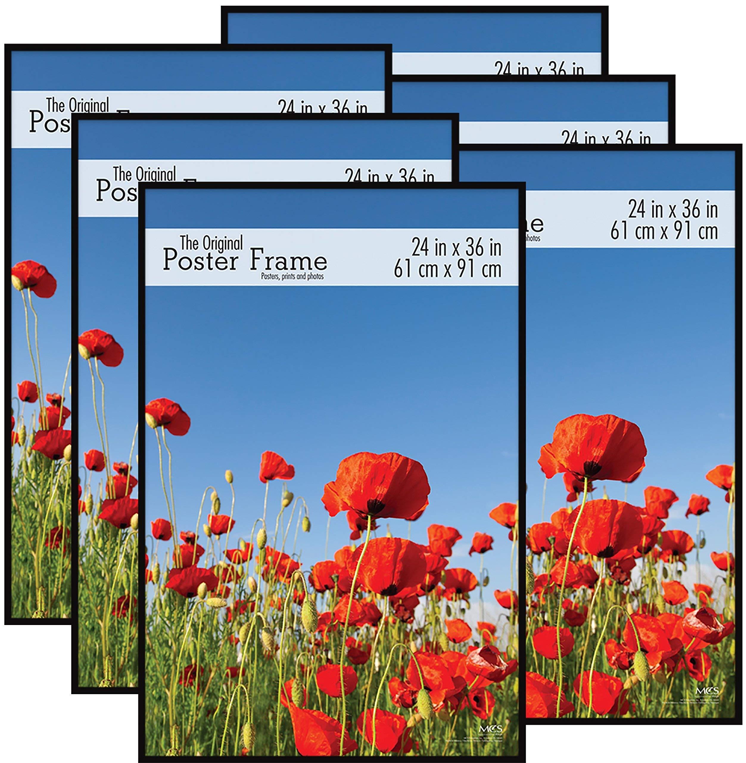 MCS Original Poster Frame, 24 by 36-Inch, Black, 6-Pack (Renewed)