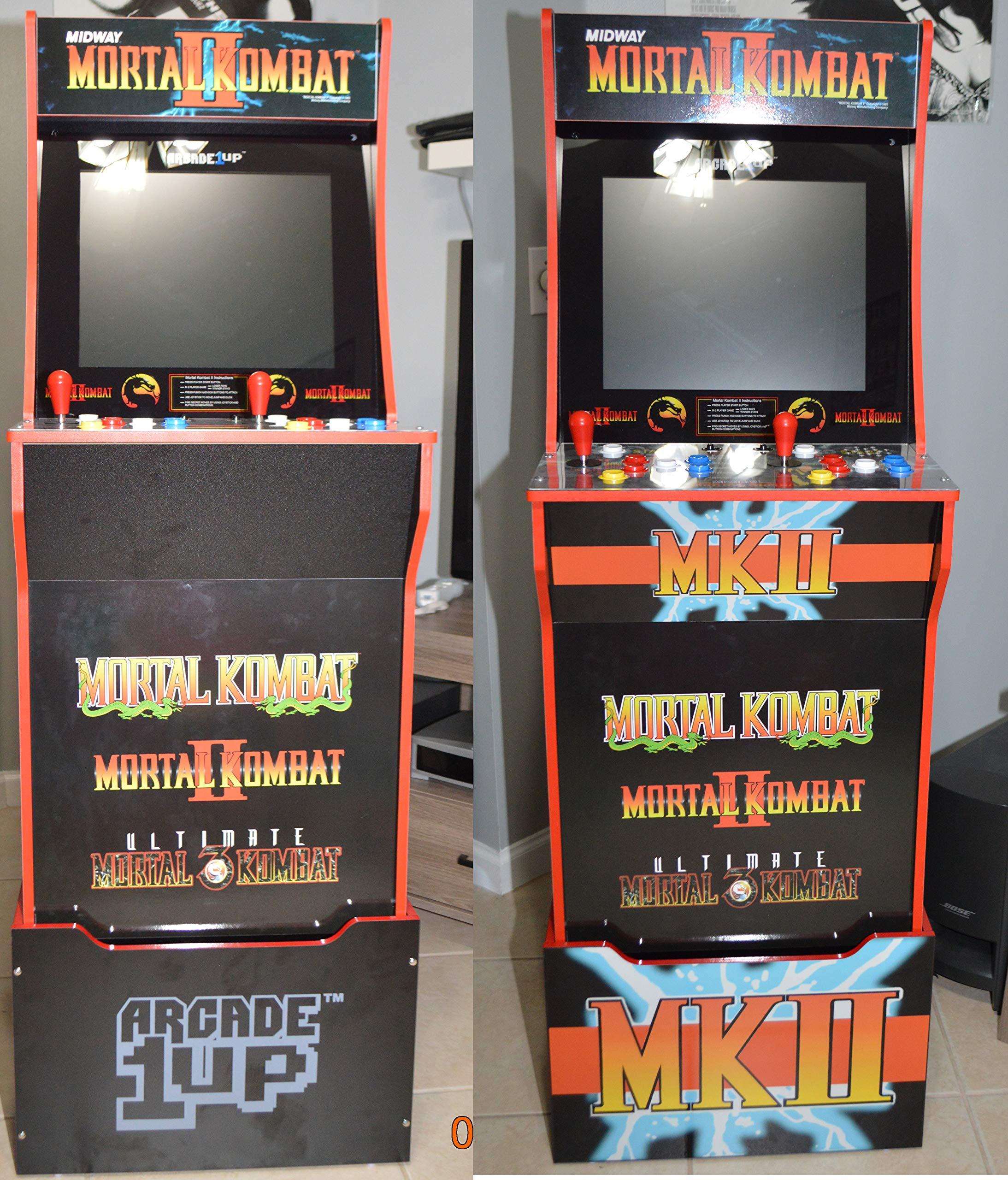 Rampage Arcade 1up Cabinet Riser Graphic Decal Sticker