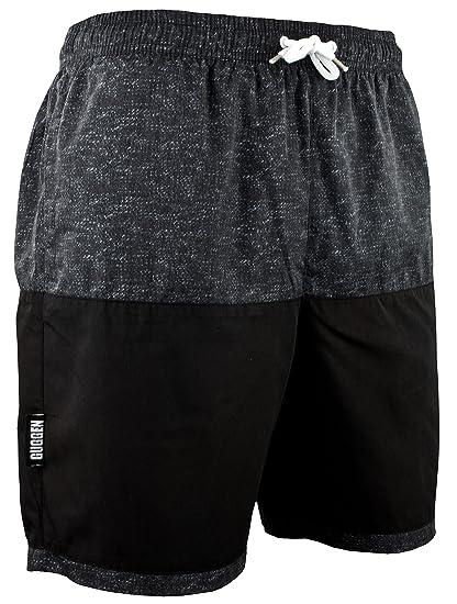 880a16062c0e GUGGEN Mountain Homme Short De Bain Plage Natation Bermuda Pant Court De  Sport Maillot De Bain avec Motif Noir  Amazon.fr  Vêtements et accessoires