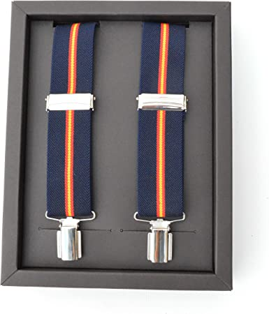 Cencibel Smart Casual Tirantes Bandera España (Azul Marino): Amazon.es: Ropa y accesorios