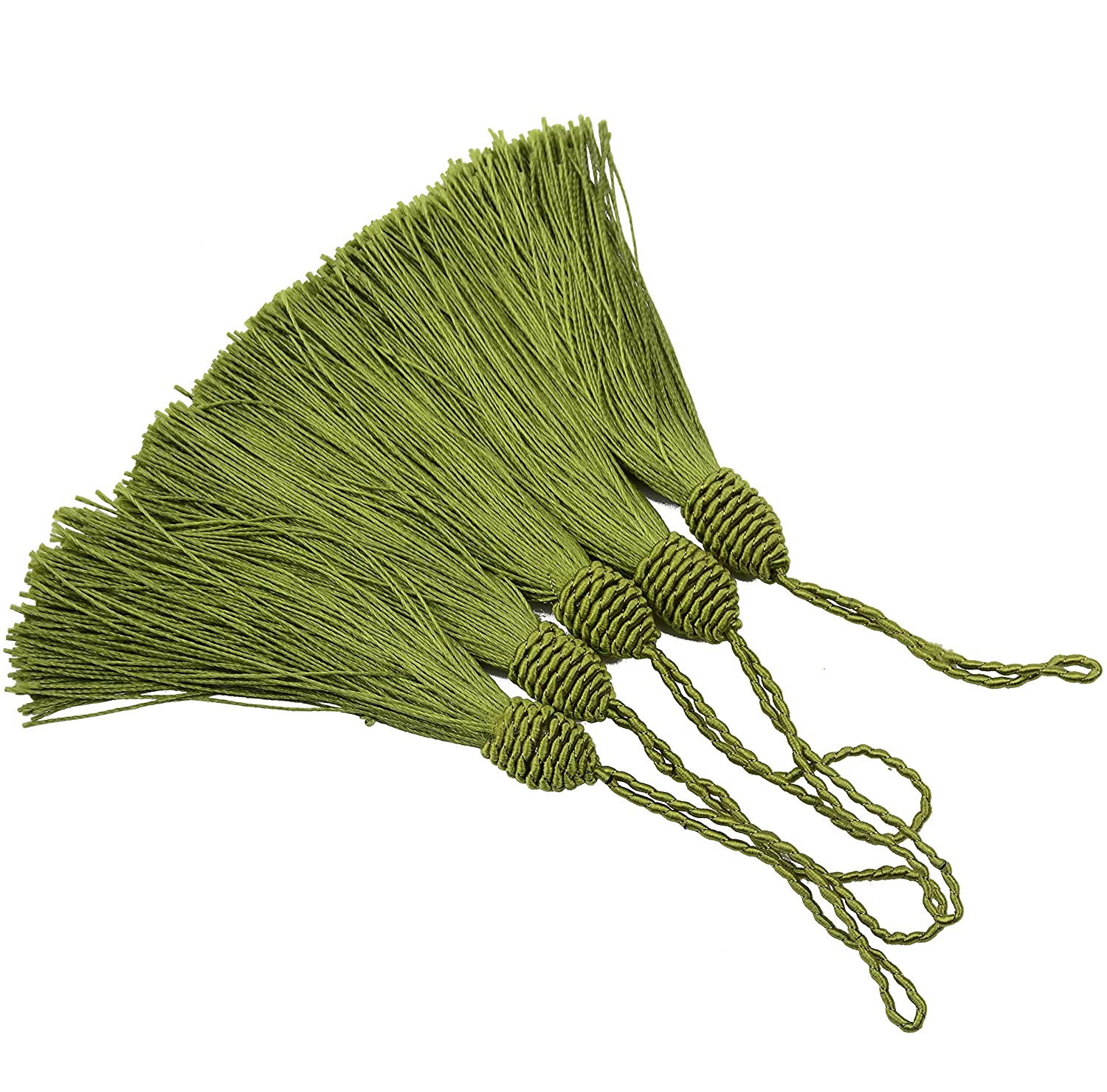 Bookmarks DIY Craft Accessory 20pcs 15.5cm//6 Inch Silky Floss Bookmark Tassels with 2-Inch Cord Loop and Small Chinese Knot for Jewelry Making Souvenir Mixed Yellow