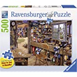 Ravensburger Dad's Shed - 500 Pieces Large Format Jigsaw Puzzle for Adults – Every Piece is Unique, Softclick Technology…