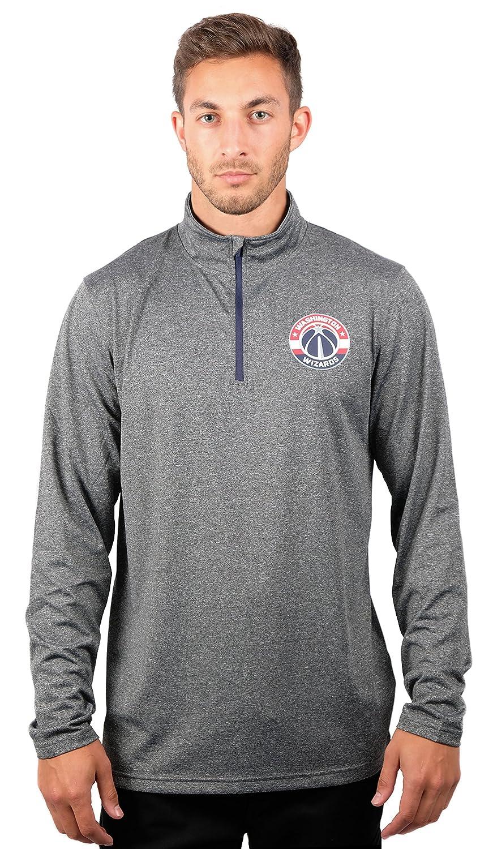 UNK NBA メンズ プルオーバーシャツ クウォータージップ 長袖Tシャツ チームロゴ グレー X-Large グレイ   B076LNSY53