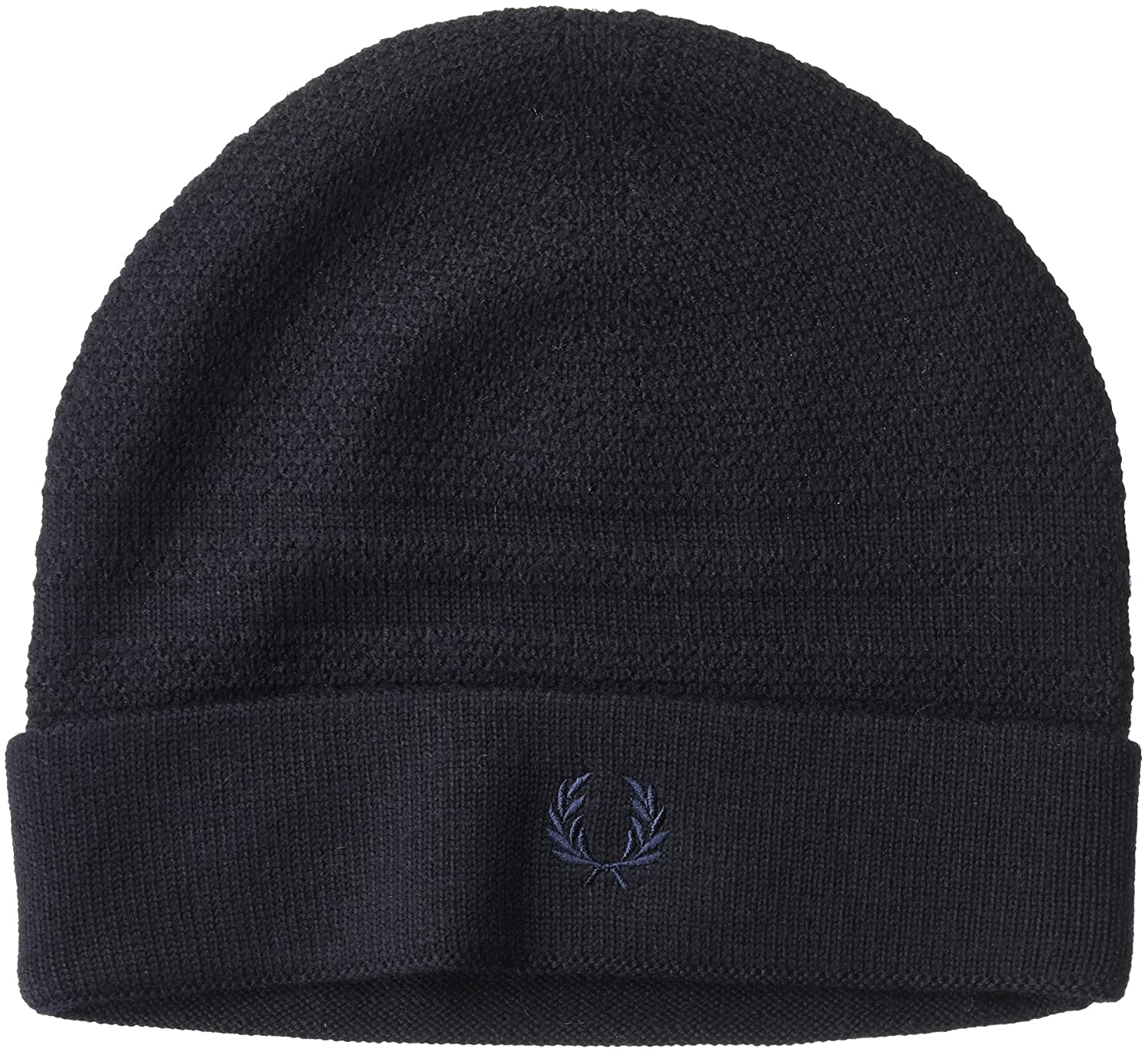 Fred Perry Men's Pique Tipped Merino Beanie Navy One Size C2103
