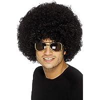 Smiffys 42017 Déguisement Adulte Perruque Afro Funky des Années 70, Noir, Taille Unique