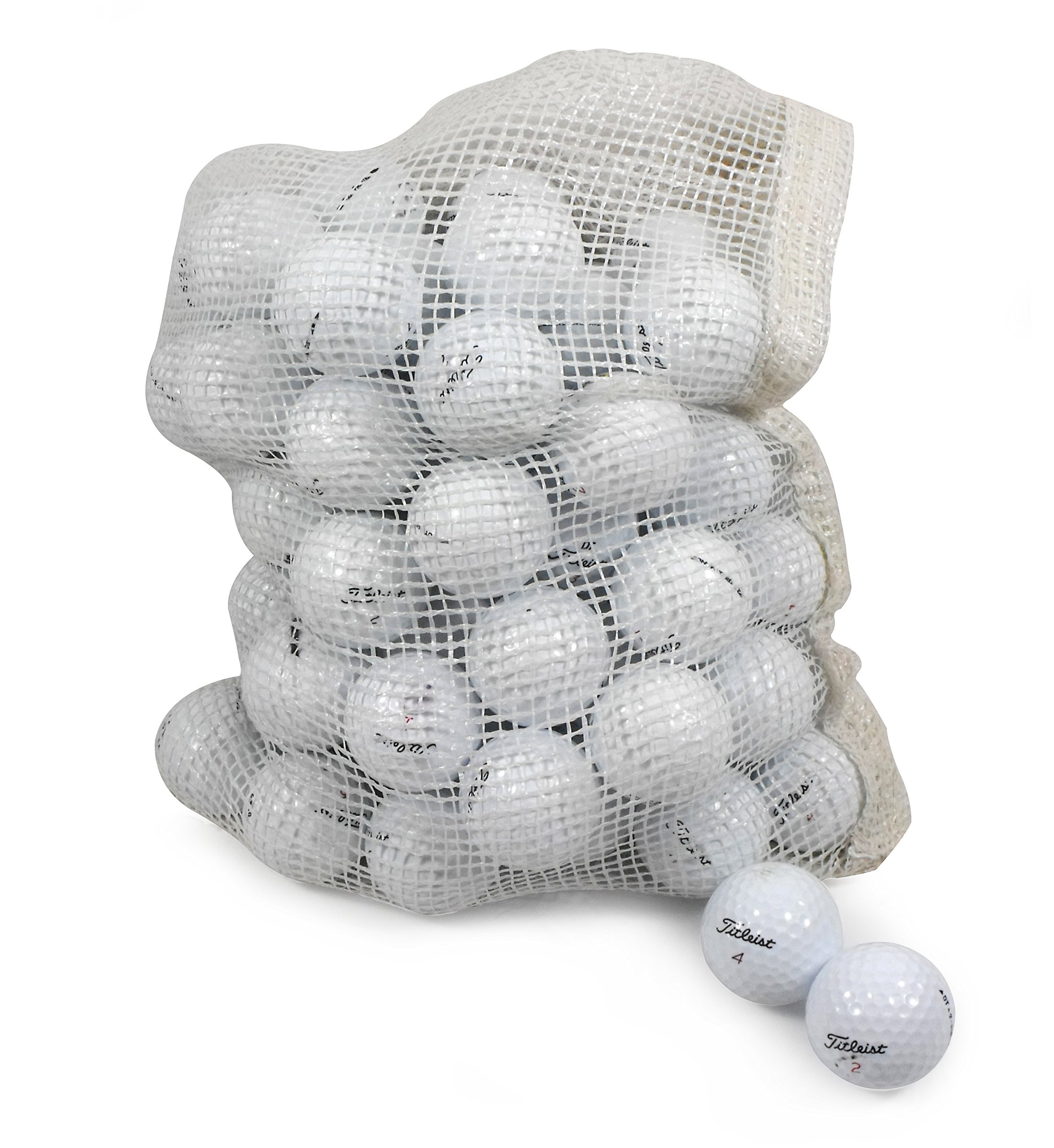 Titleist Recycled Used Golf Balls Cleaned B/C Grade Golf Balls 72 Ball Assorted Models in Onion Mesh Bag by Titleist